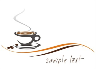 hot coffee , cafeteria , business logo design