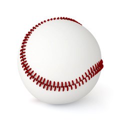 3d baseball ball isolated on white background