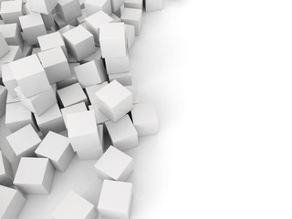 many white 3d cubes