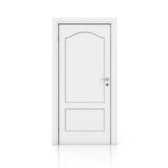 3D white door - closed version