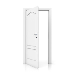 3D white door - open version