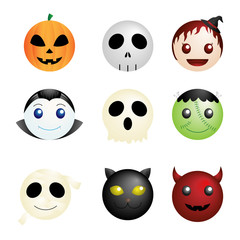 Halloween characters icons