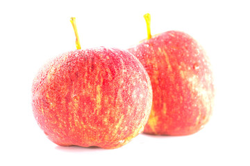 Ripe and fresh red apples