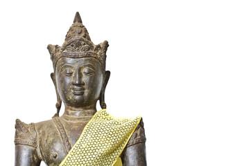 the old and grunge buddha image