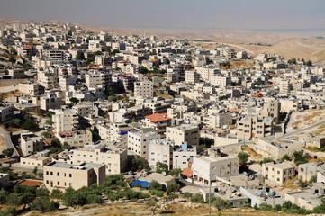 Arab town near Jerusalem as seen from Scopus mount.