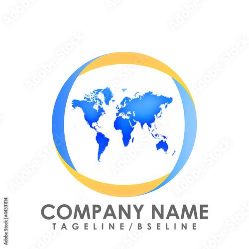 World map logo stock image and royalty free vector files on fotolia world map logo gumiabroncs Choice Image