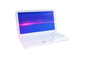 Ordenador portátil blanco