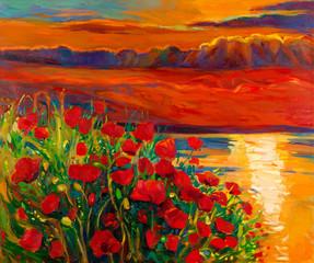Poppy and ocean