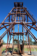 Cobar gold mine monument Australia