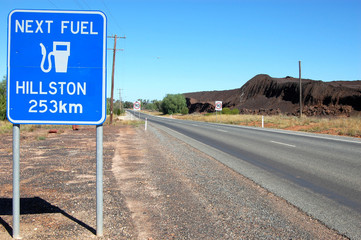 Road sign in outback Cobar Australia