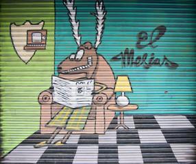Graffiti, Barcelona, Spanien
