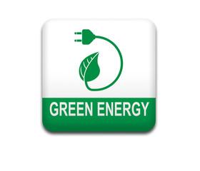 Boton cuadrado blanco GREEN ENERGY
