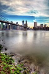 Fotomurales - Rivage de l'Hudson River à New York.