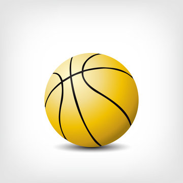 Basketball Logo Gold