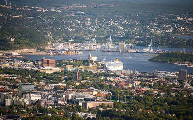 Bird view of Oslo