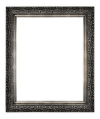 isolated antique silver frame
