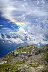 Nuage Arc-en-ciel - Massif du Mont-Blanc