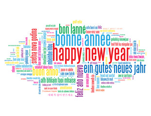HAPPY NEW YEAR Tag Cloud (celebrations party day)