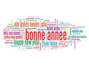 Nuage de Tags BONNE ANNEE (nouvel an année meilleurs vœux fête)