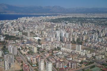 Air photo of Antaly city in Turkey.
