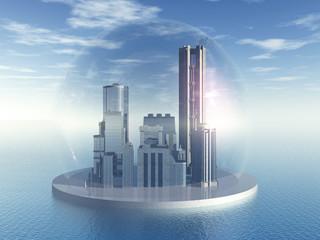 Stadt im Meer