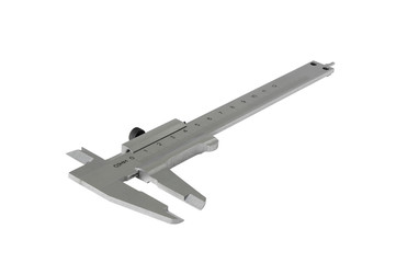 Sliding calipers isolated on the white background