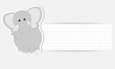 etichetta elefante - place your text