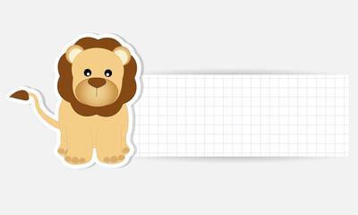 etichetta leone - place your text