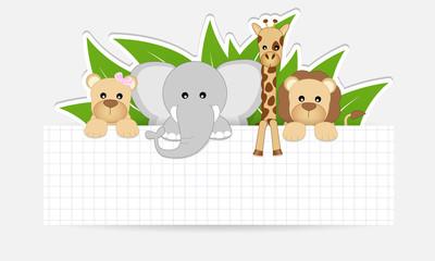 etichetta animali della savana - place your text