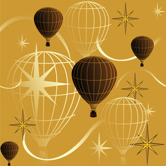 seamless background journey in a balloon