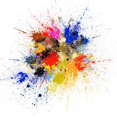 Abstract Splash Painting