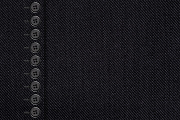 black cotton texture with bottons