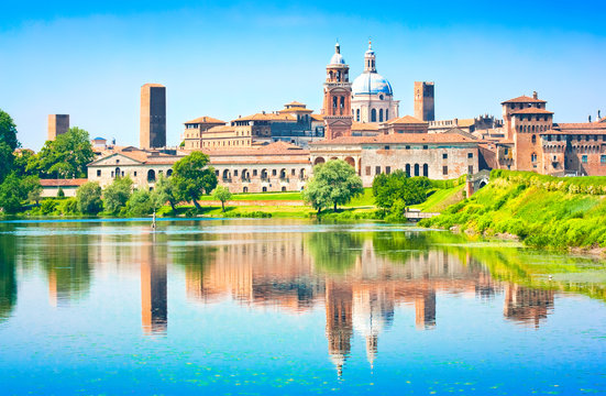 Medieval city of Mantua in Lombardy, Italy