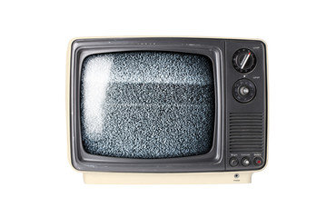 Retro TV set with static