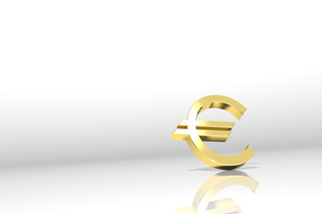 Euro Symbol on white