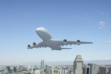 Flying plane
