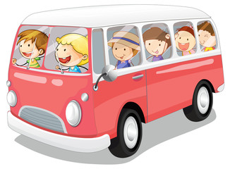 kids in a bus