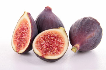 isolated fresh fig