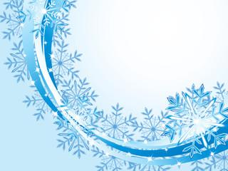 Winter wave pattern background