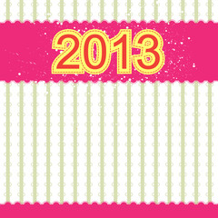 2013 new year banner retro design