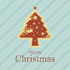 christmas tree retro style