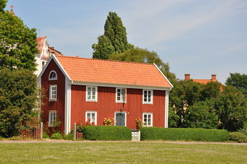 Schönes skandinavisches Haus in Kalmar, Schweden