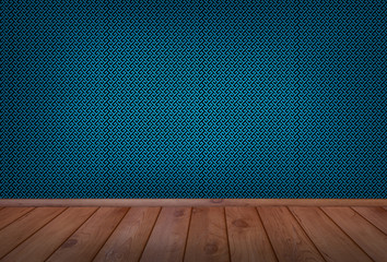 Blue Vintage Room Background