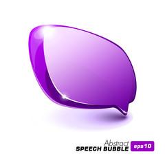 Abstract Glass Speech Bubble Violet Purple
