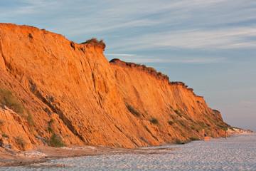 Fototapete - Rotes Kliff bei Kampen auf Sylt im Abendlicht