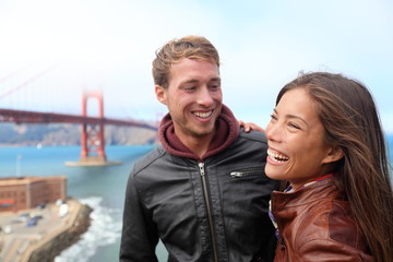 Aufkleber - Happy young couple laughing, San Francisco