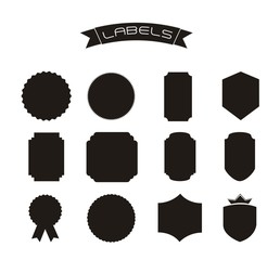 silhouette labels