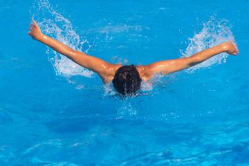Pretty female swimmer