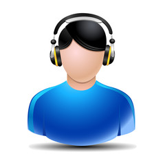 music listening vector