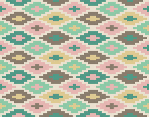 Seamless ikat pattern #1